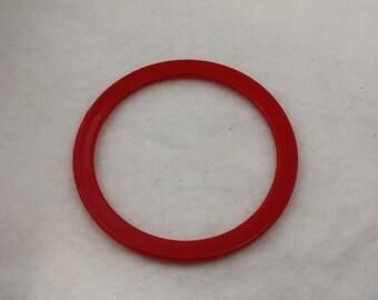 12pcs Vintage Stacking Bangle Cuffs Red