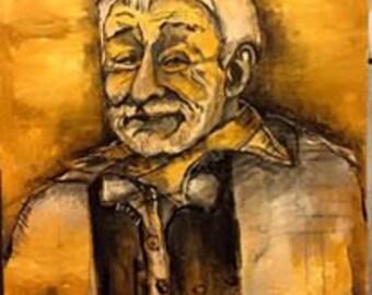 Portrait of artist