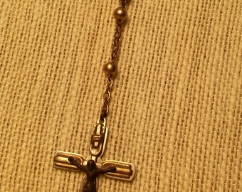 1940's serviceman's style steel rosary vintage