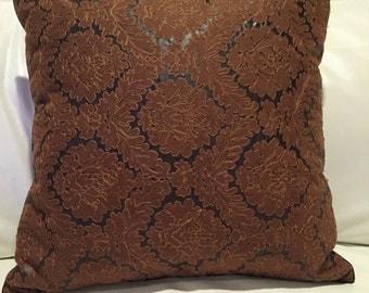 Appliqué luxury decorative pillow