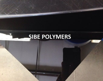"SIBE-R PLASTIC SUPPLY - black acrylic plexiglass 3/16"" x 24"" x 12"" plastic sheet"