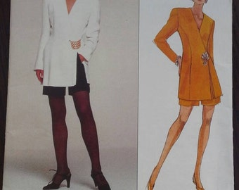 Vogue Pattern, Donna Karan jacket and shorts Sizes 12-14-16
