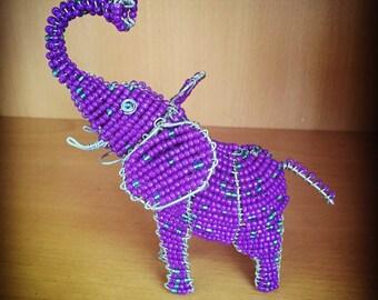 Handcrafted Beaded Elephant/Giraffe/Hippo