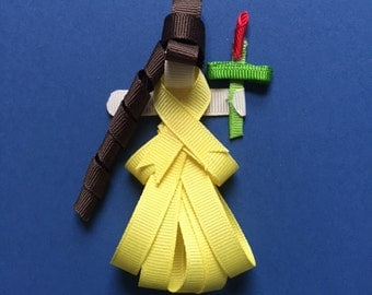 Beauty and the Beast's Belle Ribbon clip/pin or ornament
