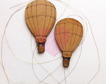 hot air balloons of wood