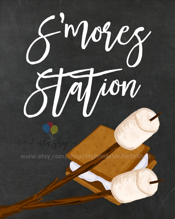S'mores Station Chalkboard Sign