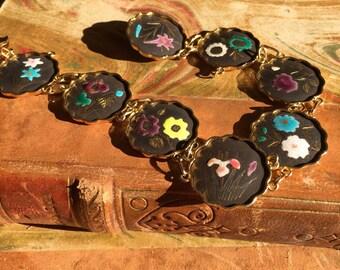 Black Japanese enamel bracelet