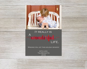 It really is a wonderful life photo digital christmas card, Its a wonderful life, digital christmas card, photo christmas card, custom, DIY