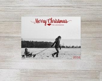 Merry Christmas, christmas card, digital christmas card, custom, glitter font, simple christmas card, printable christmas card