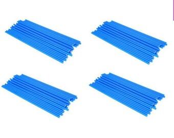 "BLUE - 4.5"" (114mm) Plastic Lollipop Sticks"