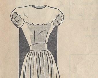 "1943 Vintage Sewing Pattern B36"" DRESS (R94) Fashion 8095"