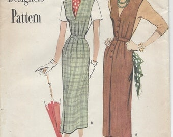 "1949 Vintage Sewing Pattern B36"" DRESS (R579) Simplicity 8139"