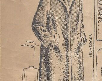 "1942 Vintage Sewing Pattern B36"" FUR COAT (R626) Maudella 4148"