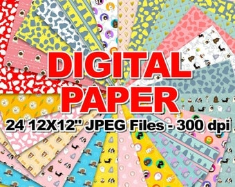"Secret Life of Pet - Digital Paper - 24 jpeg files 12x12"" 300 dpi"