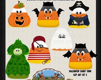 Candy Corn Clip Art - Halloween Clip Art - Candy Clip Art - Commercial use Clip Art - Instant Download - Scrapbooking Supplies