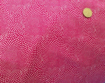 High quality cotton poplin dyed in Japan with hot pink, dotty print