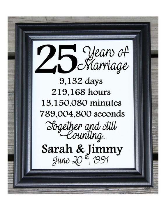 Wedding Gifts 25 Years : Cotton Print 25th Wedding Gift 25 Years Together 25 Years ...