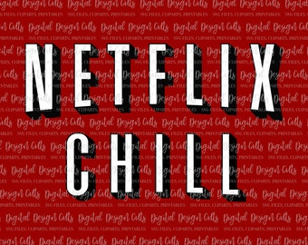 Netflix Chill Clipart SVG, png, dxf, Files for Cutting Machines Cameo or Cricut, Netflix SVG, Netflix logo svg, Netflix red, Netflix Font