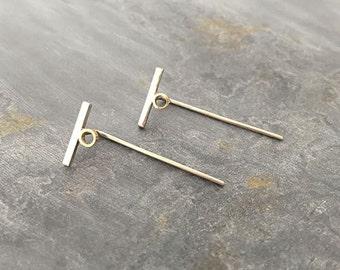 Play Geometric T Bar Earrings