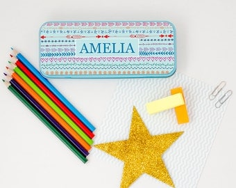 Personalised Girls Dainty Pattern Pencil Case!