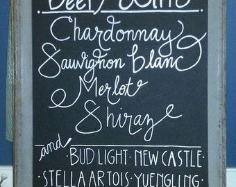 Wedding Chalkboards [Handwritten]