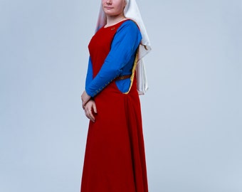 Sideless surcoat (medieval dress, 13-14c, Europe) Безбокое сюрко (реконструкция, 13-14вв, Европа)