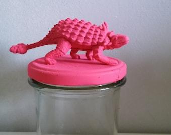 Jar fluo pink dinosaur