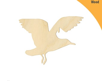 Seagull Wood Cutout Shape, Laser Cut Wood Shapes, Crafting Shapes, Gifts, Ornaments Seagull