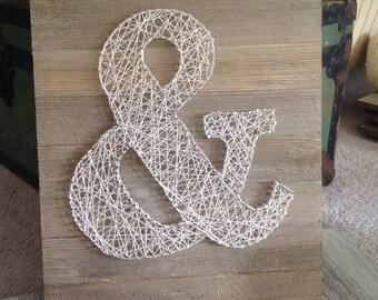 Ampersand String Art