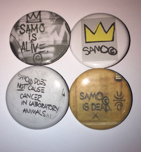 Set Of 4 Basquiat Buttons Jean Michel Samo New York City