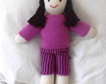 Hand Knitted Vintage Style Dolls : Aly