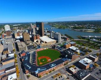 Downtown Toledo Aerial Perspective Toledo, Ohio