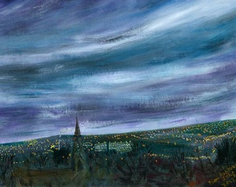 Nightfall over Burngreave limited edition print
