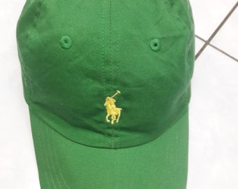 Christmas SALE 20% !!!  Vintage Polo by Ralph Lauren Hat green adjustable cap