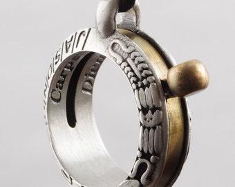 Aztec Sundial Pendant