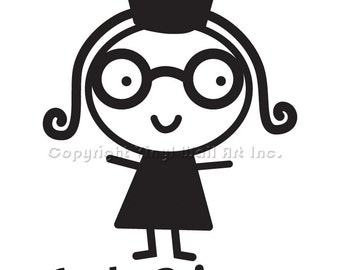 Geeky Princess Vinyl Car Decal - Car Decal, Laptop Sticker, Window Decal, Personalized Decal,