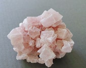 Raw Healing Crystal Dusty Pink Halite Quartz Cube Crystal Specimen Pink Crystal Cluster