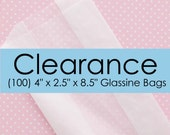 """Glassine Bags with Gusset 4"""" x 2.5"""" x 8.5"""" 