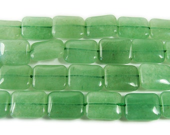 Green Aventurine Rectangle Gemstone Beads