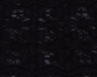 "2 yds Black Rigid Lace 3"" wide (T101B-2)"