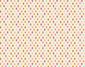 Tula Pink Slow and Steady Track Flags in Orange Crush Free Spirit cotton quilt fabric - half yard