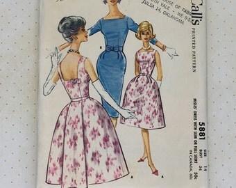 1961 McCall's Dress Pattern No. 5881