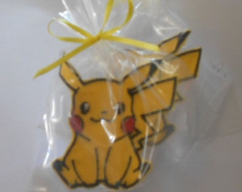 8 Kids Party favors Pokemon Patches Cute Patches Childs Party Favors Pokemon Theme Party
