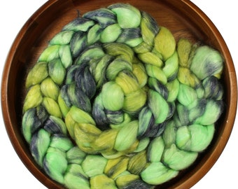Watergardens -- hand-dyed merino tencel top / roving (4 oz.)