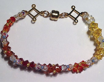 Fire and Ice Crystal Bracelet