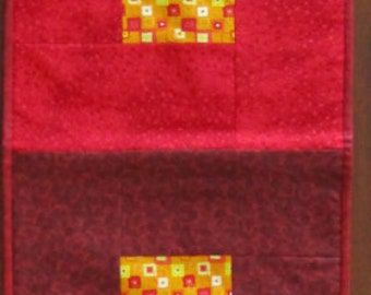 Autumn Leaves Maroon Red Orange Yellow Tablerunner Extra Large Full size