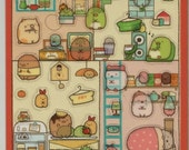 "SAN-X Sumikko Gurashi ""Things in the Corner"" Our Dream Home Stickers: (A)"