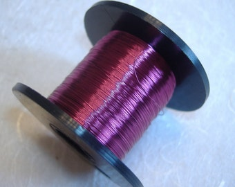 Bright Violet colour British Craft Wire 0.2mm 175m long
