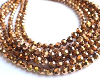 The Ariel- Gold Glass Chunky Necklace