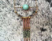 Maya Necklace / Brass Necklace / Tassel Necklace / Seed Bead